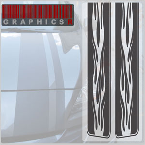Racing Stripes - Classic Car Graphic