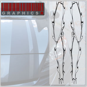 Racing Stripes - Torn Graphic