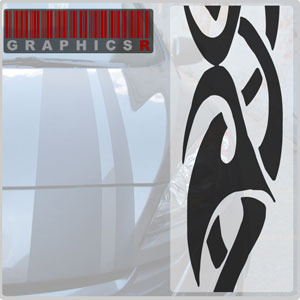 Racing Stripes - Tribal Tattoo Graphic