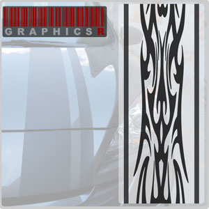Racing Stripes - Tribal Racing Graphic